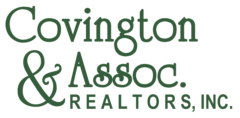 Covington & Associates Realtors, Inc logo in green for the real estate company in Hampton Roads Virginia