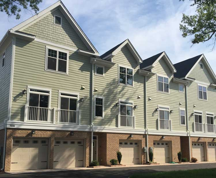 Watermark townhouse in Norfolk, Virginia, a Multi-Family Construction & Renovation by Covington Contracting