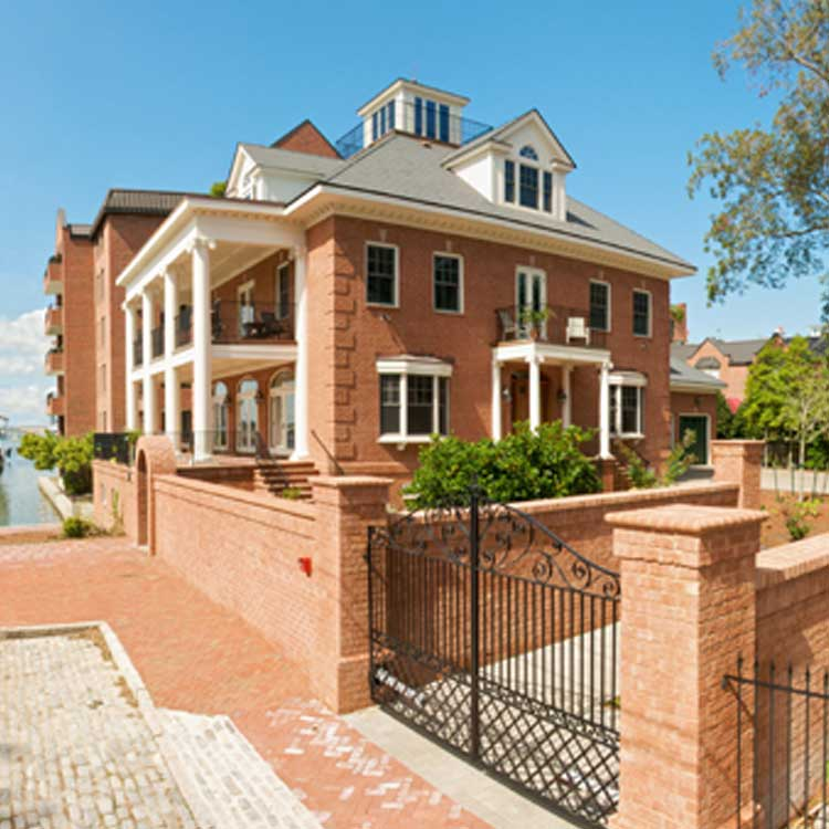 A Grand Brick Home On The Water In Norfolk Virginia